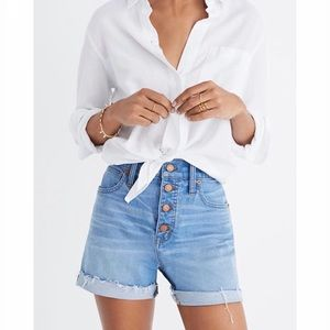 Madewell High-Rise Denim Shorts: Button-Front 25